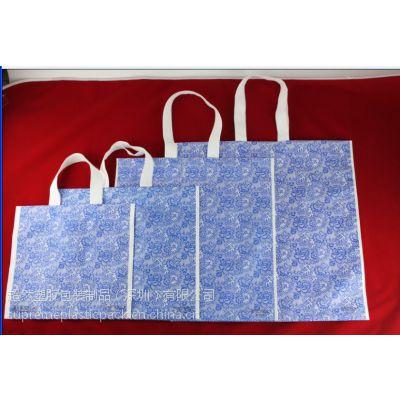 广东非无纺布袋生产厂家、超然专利丝绸布袋、环保可折叠防水购物袋