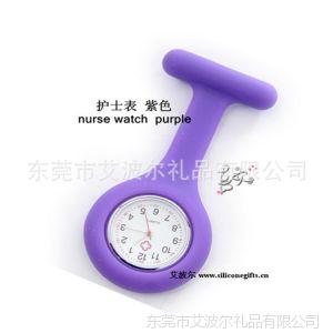供应东莞手表厂专供护士石英机芯表  硅胶表带  --艾波尔专供