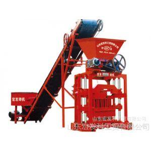 供应QTJ4-35B2型液压全自动 砌块成型机  免烧砖机 山东 宏发牌砖机