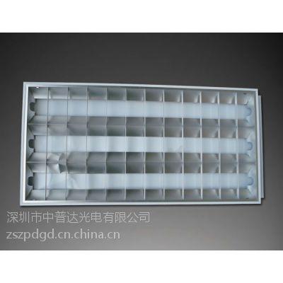 供应高档出口3*36W LED T8格栅灯盘配LED灯管600*1200空体灯盘布LED线