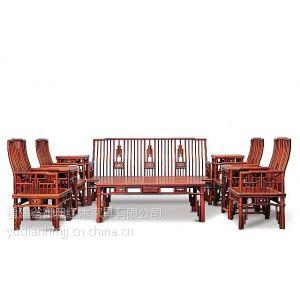 供应经典老挝大红酸枝梳枝沙发八件套 交趾黄檀明式沙发 红酸枝沙发