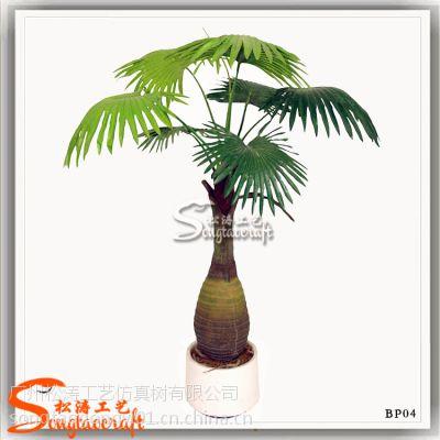 园林绿色棕榈类高品质树脂 仿真酒瓶椰 酒店造景装饰酒瓶椰子树