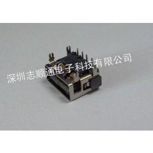 供应USB AF90度DIP短体10.0 四脚鱼叉 平口