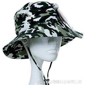 青岛帽子厂家生产定做供应批发迷彩户外运动遮阳盆帽大沿帽遮阳帽