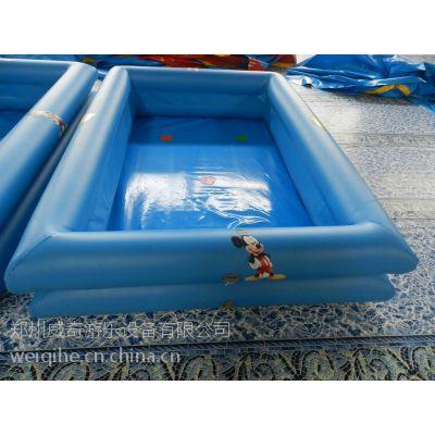 儿童气垫泳池 水上娱乐专用充气水池 河南充气水池厂家