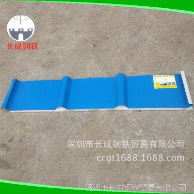 厂家供应 深圳单层瓦片 彩钢屋面瓦 瓦楞彩钢板 单层彩钢瓦