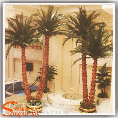 保鲜棕榈树 仿真植物装饰人造棕榈树 室内装饰仿真大树