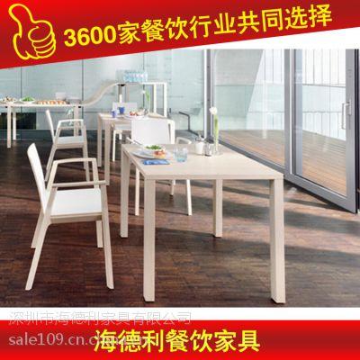 厂家特价 现代橡木餐桌 圆桌子 厂家专业生产 深圳海德利家具 专业餐饮家具定制