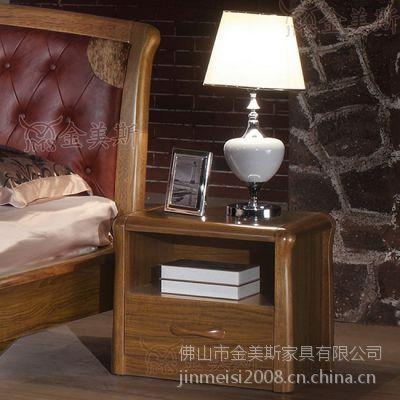 佛山金美斯现代中式虎斑木实木床头柜M1301