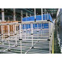 供应线棒 精益管 复合管货架 周转架 流利条货架