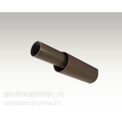 供应江苏淮安蒂美PVC咖啡色圆管丨PVC塑料落水管生产厂家