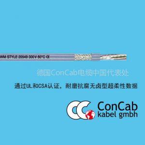 供应拖链电缆PUR-C-592_耐磨抗腐无卤型超柔性数据屏蔽拖链电缆
