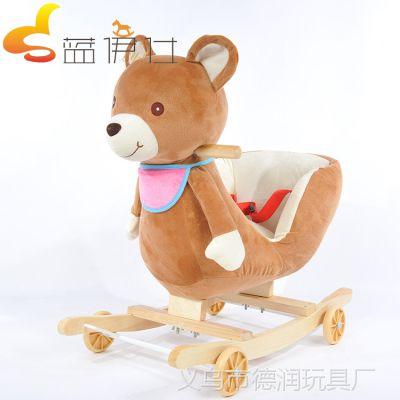厂家批发婴儿车摇摇椅木马两用宝宝音乐大号三十二首和旋铃音