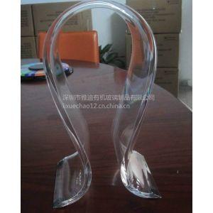 现货供应亚克力耳机架 头戴耳机支架 定做透明耳机架子 有机玻璃制品