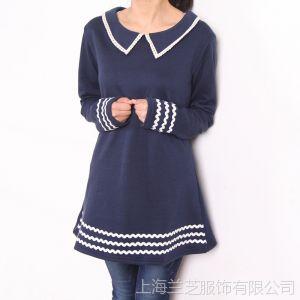 供应145-0085冬季新品直销 日单外贸 蕾丝娃娃翻领波浪花边连衣裙Y35