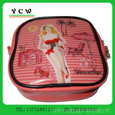 深圳化妆包厂家 订做光胶PVC化妆包 彩印化妆包 可加印LOGO