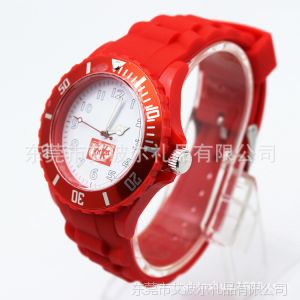 供应硅胶手表 特色手表批发  手表配件字面可定制假木制手表