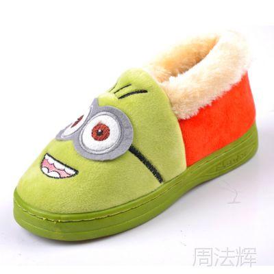 布居乐冬季新款儿童棉鞋 神偷奶爸小黄人中童卡通保暖童鞋 6810