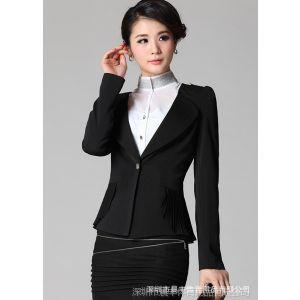 供应批发韩版新款女装修身百搭潮时尚气质品雪纺长袖小西装外套女