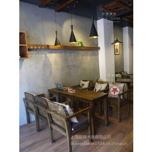 供应供应复古咖啡厅桌椅 复古咖啡厅实木桌椅 工厂定制咖啡厅甜品店桌椅