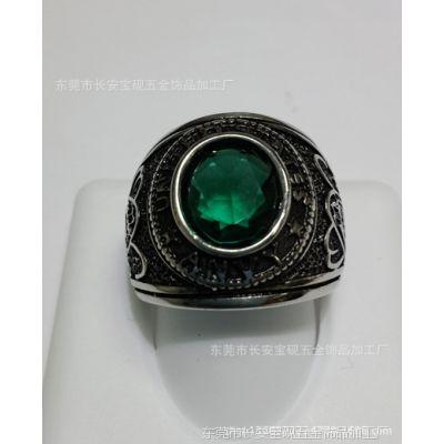 专业生产不锈钢戒指  铸造戒指  欧美热销个性宝石戒指  首饰批发