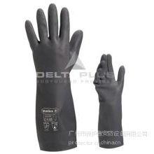 供应代尔塔201510防护手套|重型黑色氯丁橡胶手套|VE510手套|切边手套