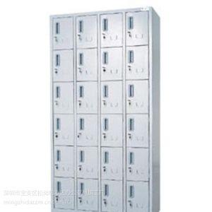 供应明志达深圳办公家具加工厂家直销员工宿舍24门铁皮储物柜