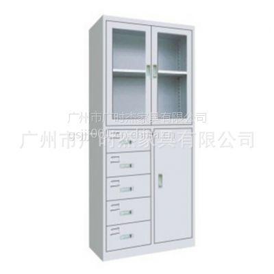 广州家具厂 直销 铁皮办公文件偏五斗移门柜 偏五斗器械柜