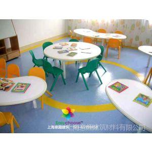供应韩华新格莱雅PVC卷材地板教室实验室幼儿园图书馆彩色弹性耐磨