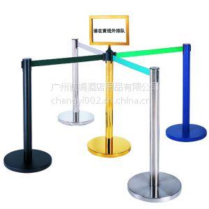 供应2米钛金隔离带/不锈钢一米线/栏杆座/移动护栏/伸缩带护栏厂家
