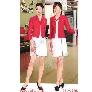 供应商场促销服 售货员服装 女士职业装