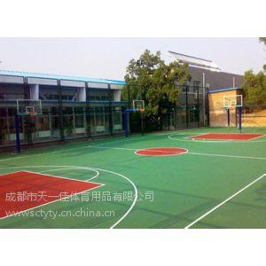 供应成都篮球场面积/塑胶篮球场价格/室内外篮球场/EPDM篮球场/硅PU篮球场/丙烯酸篮球场
