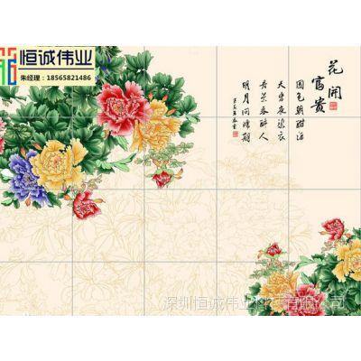 畅销全国uv瓷砖背景墙打印机 大理石背景墙上色机 大型陶瓷印花