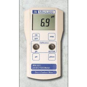 供应便携式pH/EC/TDS测试仪 型号:milwaukeech/ MW801 库号:M322544