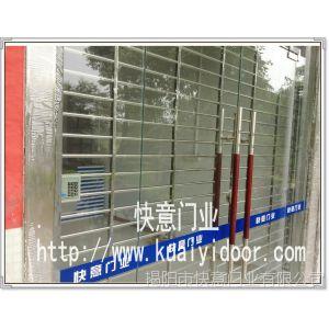 供应【高品质自动门】揭阳市快意门业不锈钢圆管栏栅卷闸门