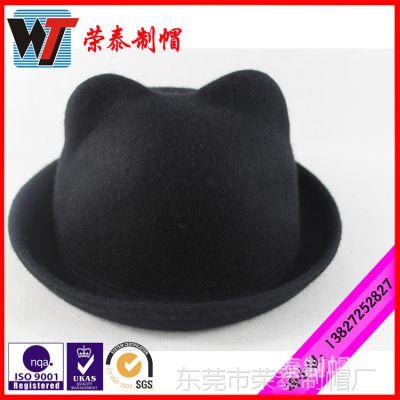 儿童秋冬羊毛呢帽 英伦马术礼帽 儿童帽韩国毛呢帽 亲子帽子批