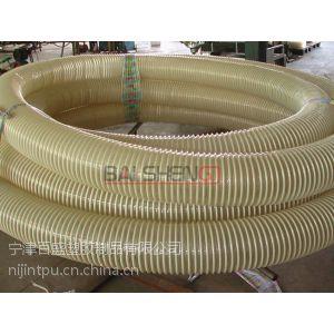 供应贵州地面抛丸机专用耐磨吸尘塑筋管、排污塑筋管,螺旋波纹管