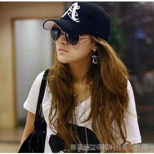 青岛2015生产定做韩国潮流平板帽子 A字母刺绣嘻哈平板帽鸭舌帽