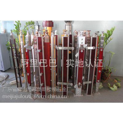 工程楼梯 不锈钢夹木立柱 铝镁合金立柱 护栏
