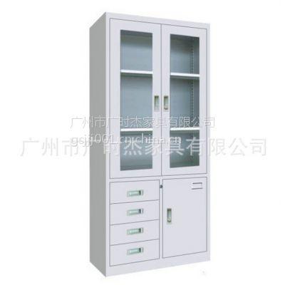 广州厂家批发办公家具 钢制文件柜 侧4斗档案柜 铁皮柜子