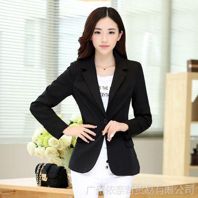韩国服饰 新款女装韩版修身小西服 品牌代销代发货 免费加盟代理