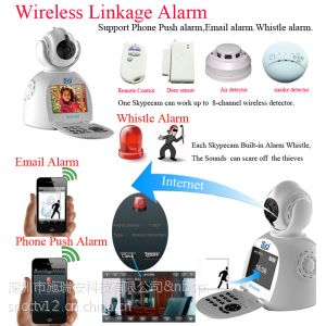 供应新一代无线夜视语音对视频电话IP网络电话摄像机