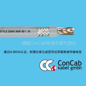 供应拖链电缆PUR-C-(TP)-513_耐磨抗腐无卤型双绞屏蔽数据传输拖链电缆