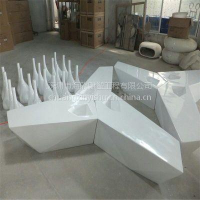 玻璃钢防腐木组合坐凳家具家私休息椅雕塑 玻璃钢现代时尚艺术造型椅子