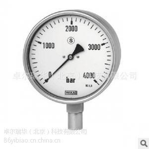 供应WIKA 222.30 不锈钢波登管压力表 高压测量EN837-1
