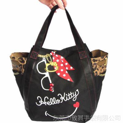 hello kitty时尚可折叠环保袋 防水印花牛津布袋 手提购物袋定做