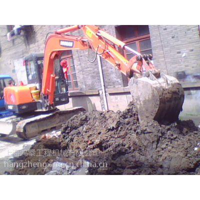 上海长宁区55大宇小挖掘机带破碎锤出租管线开挖渣土外运