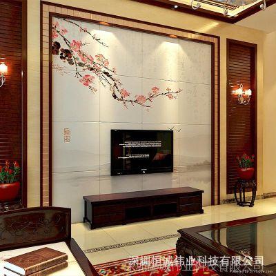 玻璃背景墙打印机 瓷砖背景墙打印机 不限材质 无需制版一次成像