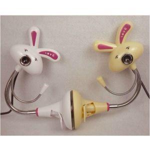 供应小白兔电脑摄像头 加工订制礼品摄像头 高清免驱摄像头