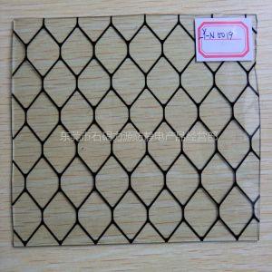 供应热销防静电透明PVC黑色网格窗帘